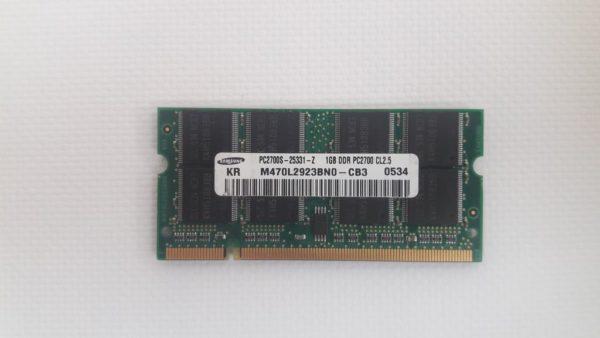 Оперативная память Samsung 1GB / DDR1 / PC-2700, PC-3200 / 400Mhz
